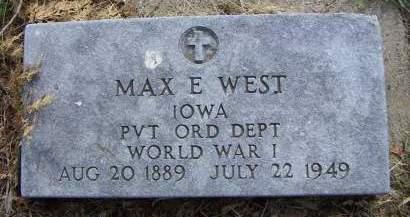 WEST, MAX E. - Sioux County, Iowa | MAX E. WEST