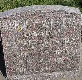 WESTRA, BARNEY  D.1967 - Sioux County, Iowa   BARNEY  D.1967 WESTRA