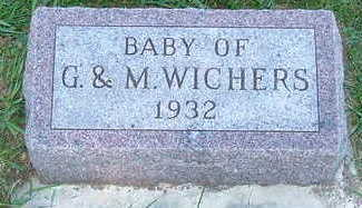 WICHERS, BABY OF G. & M. - Sioux County, Iowa   BABY OF G. & M. WICHERS