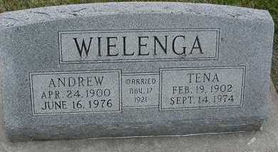 WIELENGA, TENA (MRS. ANDREW) - Sioux County, Iowa | TENA (MRS. ANDREW) WIELENGA