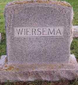 WIERSEMA, HEADSTONE - Sioux County, Iowa | HEADSTONE WIERSEMA