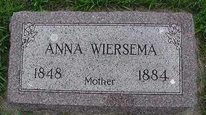 WIERSMA, ANNA - Sioux County, Iowa   ANNA WIERSMA