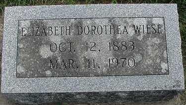 WIESE, ELIZABETH DOROTHEA - Sioux County, Iowa | ELIZABETH DOROTHEA WIESE