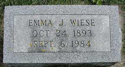 WIESE, EMMA J. - Sioux County, Iowa | EMMA J. WIESE