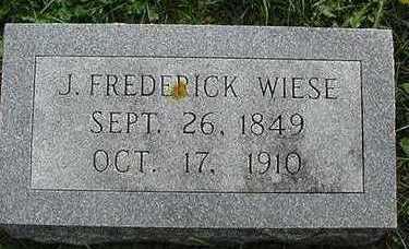WIESE, J. FREDRICK - Sioux County, Iowa | J. FREDRICK WIESE