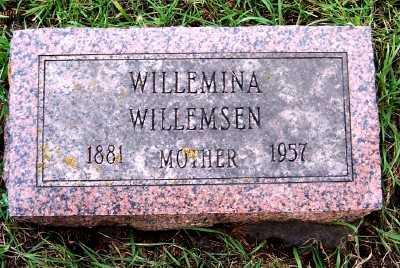 WILLEMSEN, WILLEMINA - Sioux County, Iowa   WILLEMINA WILLEMSEN