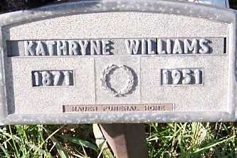 WILLIAMS, KATHRYNE - Sioux County, Iowa | KATHRYNE WILLIAMS