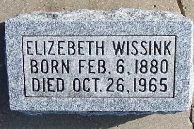 WISSINK, ELIZEBETH - Sioux County, Iowa   ELIZEBETH WISSINK
