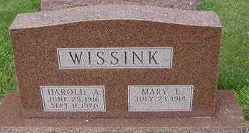 WISSINK, MARY E. - Sioux County, Iowa | MARY E. WISSINK