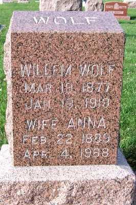 WOLF, WILLEM - Sioux County, Iowa | WILLEM WOLF