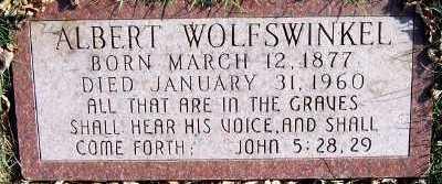 WOLFSWINKEL, ALBERT - Sioux County, Iowa | ALBERT WOLFSWINKEL