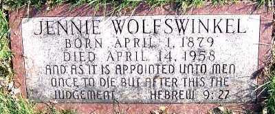 WOLFSWINKEL, JENNIE - Sioux County, Iowa | JENNIE WOLFSWINKEL