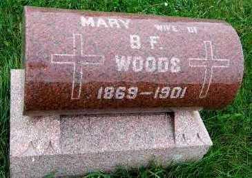 WOODS, MARY (MRS. B.F.) - Sioux County, Iowa | MARY (MRS. B.F.) WOODS