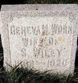 WORK WILEY, GENEVA M. (1888-1920) - Sioux County, Iowa | GENEVA M. (1888-1920) WORK WILEY