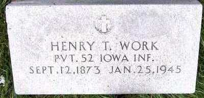 WORK, HENRY T. - Sioux County, Iowa | HENRY T. WORK