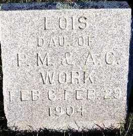 WORK, LOIS (DAU OF P.M.& A.C.) - Sioux County, Iowa | LOIS (DAU OF P.M.& A.C.) WORK