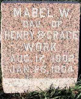 WORK, MABEL W. (1902-1904) - Sioux County, Iowa | MABEL W. (1902-1904) WORK