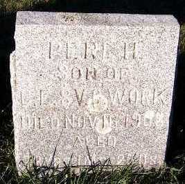 WORK, PERL H. (SON OF C.E.& V.C.) - Sioux County, Iowa | PERL H. (SON OF C.E.& V.C.) WORK