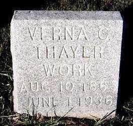 THAYER WORK, VERNA C. - Sioux County, Iowa | VERNA C. THAYER WORK