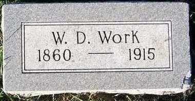 WORK, W. D. - Sioux County, Iowa | W. D. WORK