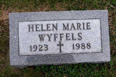 WYFFELS, HELEN MARIE - Sioux County, Iowa   HELEN MARIE WYFFELS