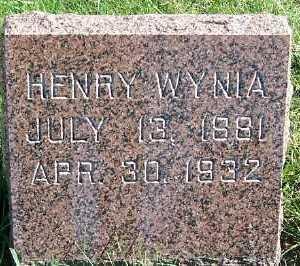 WYNIA, HENRY - Sioux County, Iowa   HENRY WYNIA