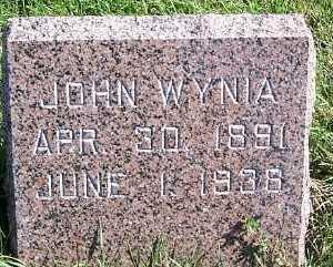 WYNIA, JOHN - Sioux County, Iowa   JOHN WYNIA