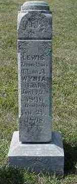 WYNIA, LEWIS (CHILD) - Sioux County, Iowa   LEWIS (CHILD) WYNIA