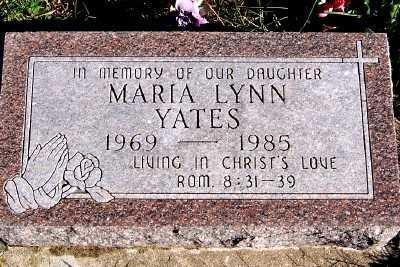 YATES, MARIA LYNN - Sioux County, Iowa | MARIA LYNN YATES