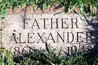 YUNKER, ALEXANDER - Sioux County, Iowa   ALEXANDER YUNKER