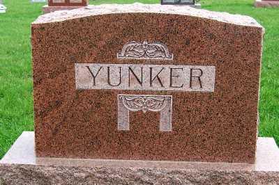 YUNKER, HEADSTONE - Sioux County, Iowa | HEADSTONE YUNKER
