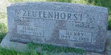 ZEUTENHORST, JENNIE (MRS. HENRY) - Sioux County, Iowa | JENNIE (MRS. HENRY) ZEUTENHORST