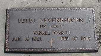 ZEVENBERGEN, PETER - Sioux County, Iowa | PETER ZEVENBERGEN