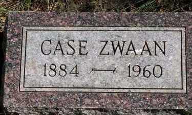 ZWAAN, CASE - Sioux County, Iowa   CASE ZWAAN