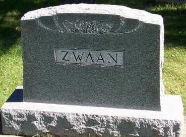 ZWAAN, HEADSTONE - Sioux County, Iowa | HEADSTONE ZWAAN