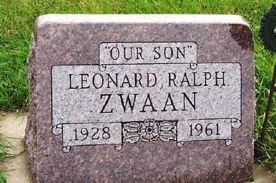 ZWAAN, LEONARD RALPH - Sioux County, Iowa | LEONARD RALPH ZWAAN