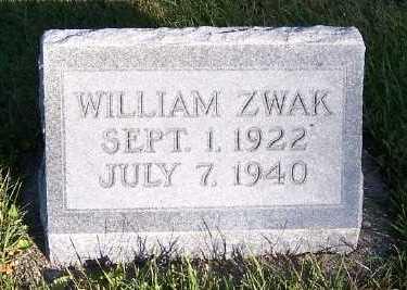 ZWAK, WILLIAM - Sioux County, Iowa | WILLIAM ZWAK