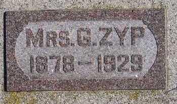 ZYP, MRS. G. - Sioux County, Iowa | MRS. G. ZYP