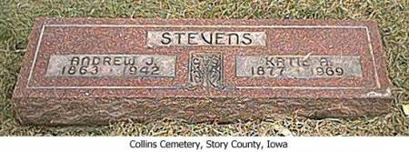 STEVENS, ANDREW J. AND KATIE A. - Story County, Iowa | ANDREW J. AND KATIE A. STEVENS