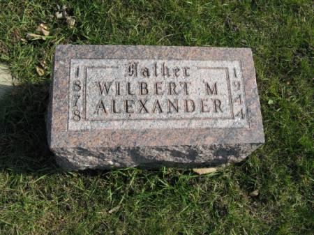 ALEXANDER, WILBERT M - Story County, Iowa   WILBERT M ALEXANDER