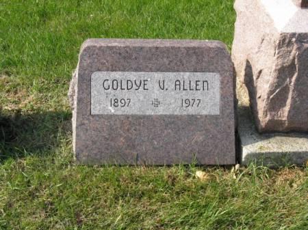 ALLEN, GOLDYE V - Story County, Iowa   GOLDYE V ALLEN