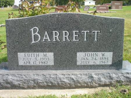 BARRETT, EDITH M. - Story County, Iowa | EDITH M. BARRETT