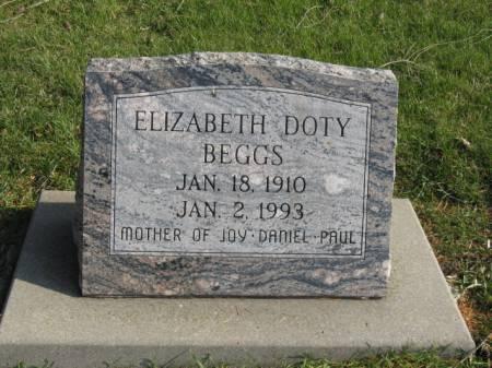 DOTY BEGGS, ELIZABETH - Story County, Iowa | ELIZABETH DOTY BEGGS