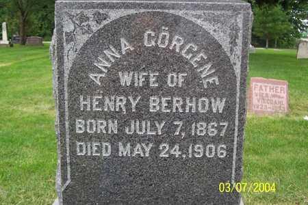 BERHOW, ANNA GORGENE - Story County, Iowa | ANNA GORGENE BERHOW