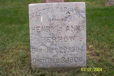 BERHOW, MARTHA CAROLINE - Story County, Iowa | MARTHA CAROLINE BERHOW