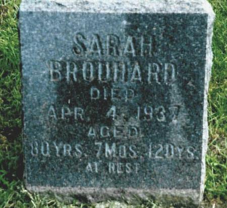SARSFIELD BROUHARD, SARAH - Story County, Iowa | SARAH SARSFIELD BROUHARD