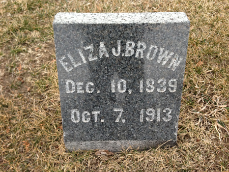 BROWN, ELIZA JANE - Story County, Iowa | ELIZA JANE BROWN