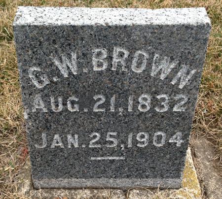 BROWN, GEORGE WILLIAM - Story County, Iowa | GEORGE WILLIAM BROWN