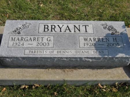 BRYANT, MARGARET G - Story County, Iowa   MARGARET G BRYANT