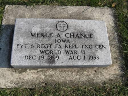 CHANCE, MERLE A - Story County, Iowa | MERLE A CHANCE